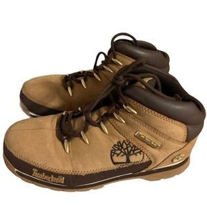 Timberland Tan Leather Boots - Boy's Size 4